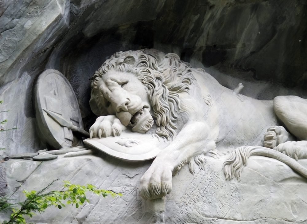 The Lion Monument of Lucerne, Switzerland